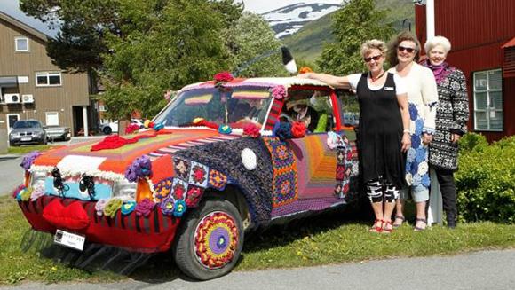Knitted Norwegian Art Car Beauty