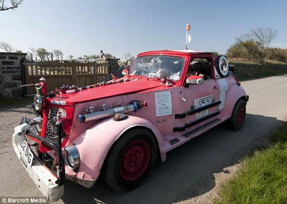 Bio Diesel Frankenstein Art Car – Lives on French Fry Oil
