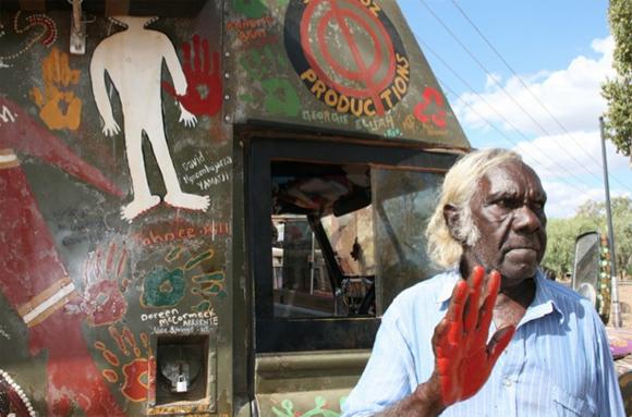 The Message Stick Vehicle – Australian Aborginal Art Car – Symbol of Unity and Peace